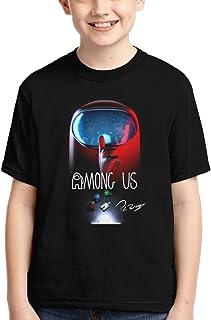 ZESHUAI Kids Among Us Shirt 3D Print Fashion Short Sleeve Cartoon Tees T-Shirt for Boys Girls