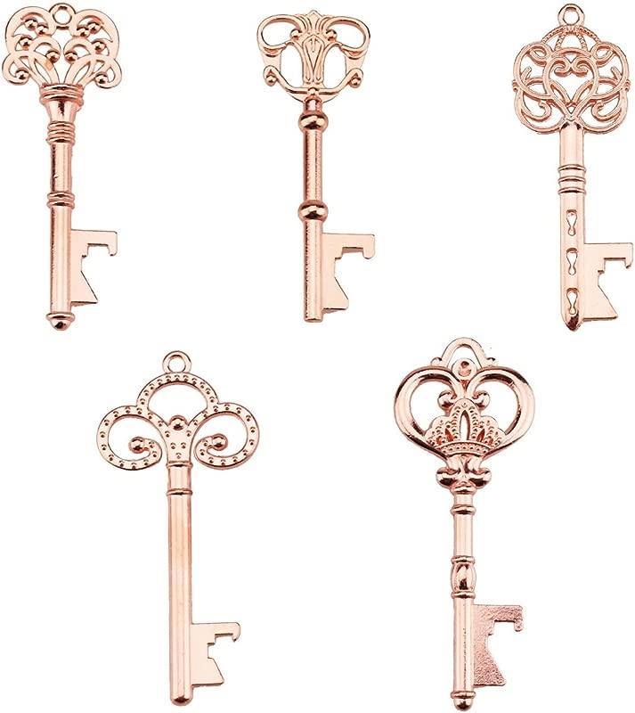 Key Bottle Openers Assorted Vintage Skeleton Keys Wedding Party Favors Pack Of 25 Rose Gold