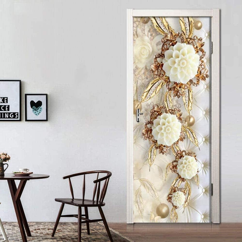 3D Door low-pricing Stickers Self-Adhesive Three-Dimensiona White Waterproof Mail order cheap