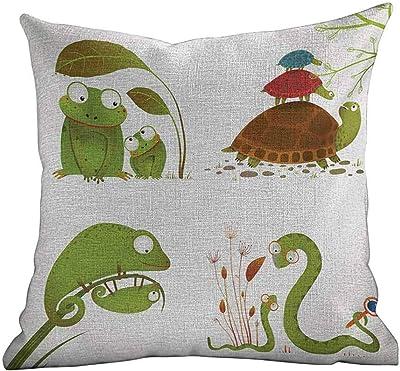 Amazon.com: Funda de cojín para sofá con diseño de reptiles ...