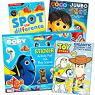 Disney Pixar Ultimate Coloring Book Assortment ~ Bundle Includes 4 Books Featuring Disney Cars, Toy Story, Finding Nemo and More (Includes Stickers)
