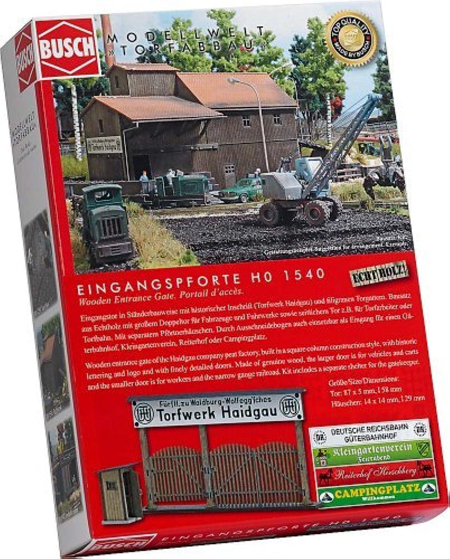 suministro directo de los fabricantes HO Scale Wooden Entrance Gate by by by Busch  venta caliente