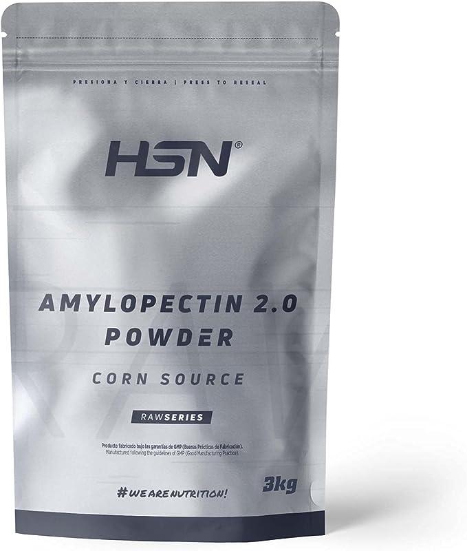 Amilopectina de Maíz (Waxy Maize) de HSN | Amylopectin Powder | Carbohidratos para Deportistas en Polvo | Sin Azúcar | Apto para Veganos, Sin Gluten, ...