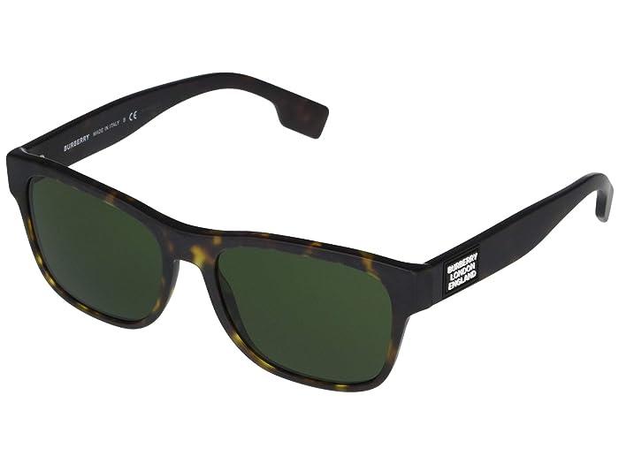 Burberry  0BE4309 (Matte Dark Havana/Green) Fashion Sunglasses