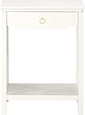 Source One Tulane White Chippendale-Style Nightstand,