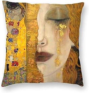 Lujo Divertido Colorido El Beso de Gustav Klimt Boudoir Funda de Almohada Rectángulo Cremallera Ambos lados Impreso Hogar Sofá Decorativo 18