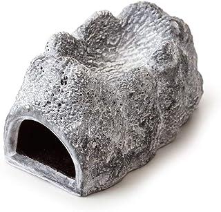 Exo Terra Wet Rock Moisture Retaining Ceramic Reptile Cave, S, 143 g,Grey