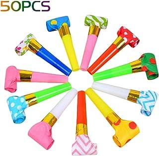 Toyvian 30 pi/èces Jouet Sifflet sans-g/êne Trompettes F/ête Accessoires pour Anniversaire Mariage Baby Shower Fourniture F/ête
