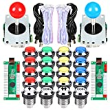 EG STARTS 2 jugadores Classic Arcade Contest DIY Kits USB Encoder to PC 5 Pin Joystick + Chrome LED...