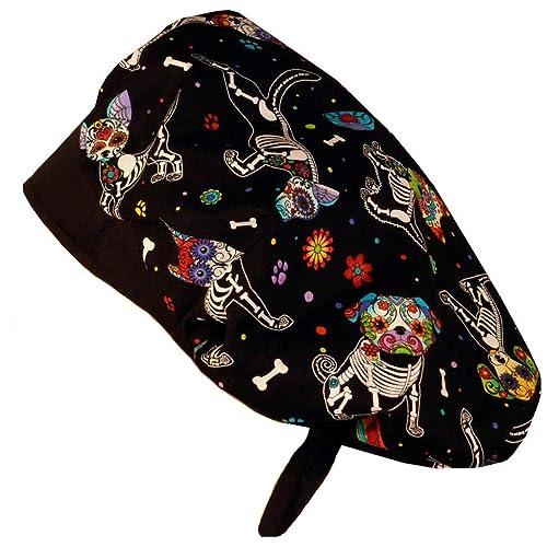 FREE CUSTOM SIZING IMAGE OF A BRAIN ON BLACK SCRUB HAT NEURO