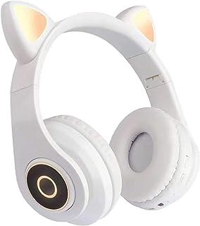 $21 » Doneioe B39 Over Ear Music Headset Cat Ear Glowing Headphone Foldable Wireless BT5.0 Earphone Hands-Free with Mic AUX in T...