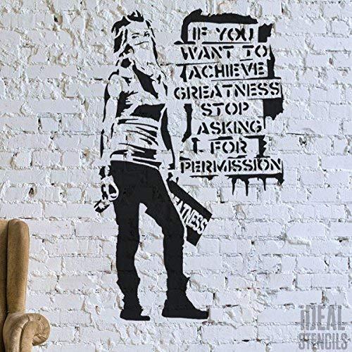 Banksy Graffiti Replik Schablone -