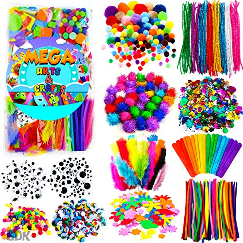 GoodyKing Arts and Crafts Supplies for Kids - Craft Art Supply Kit for Toddlers Age 4 5 6 7 8 9 - All in One D.I.Y. Crafting Collage Arts Set for Kids