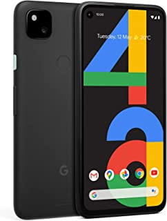 Google Pixel 4a Android Mobile Phone- Black, 128GB, 24 Hour Battery, Nightsight, SIM Free
