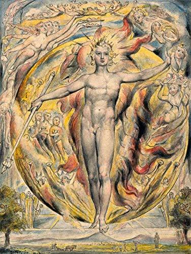 O Sol em seu Portão Oriental de William Blake - 50x66 - Tela Canvas Para Quadro