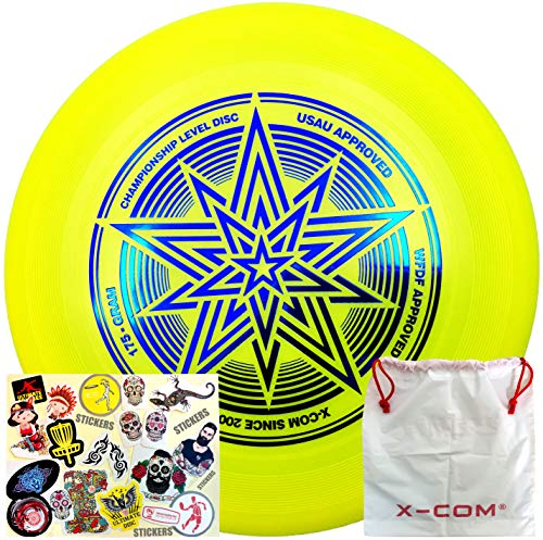 HHD-X Com Frisbee-Ultimate Star 175g Sport Disc. Outdoor Game -Features Durable, Weather Resistant Material PE 1 Flying Disc. The Best Hotfoil Glint Image. (Lime)