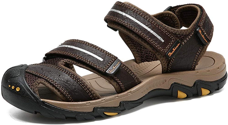 Fashion Sandalen Klett Light Beach Outdoor Wasserschuhe Herren Sommer Schuhe (Farbe  Darkbraun, Größe  6 UK)