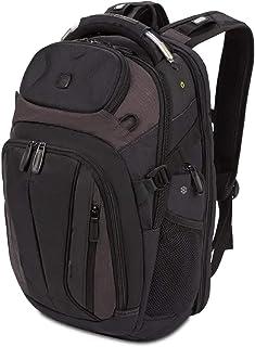 SWISSGEAR SCANSMART TSA School Work and Travel Men's and Women's/Laptop Backpack - Black and Heather Gray
