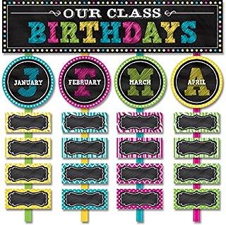Teacher Created Resources Chalkboard Brights Our Class Birthdays Mini Bulletin Board (5506)
