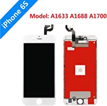 """iPhone 6s Screen Replacement Lansupp 3D Touch Screen Glass Digitizer Frame Assembly with Tempered Glass Screen Protector + Repair Tools 4.7"""" White"""