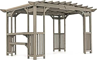Yardistry 14' x 10' Wood Pergola with bar and Sunshade