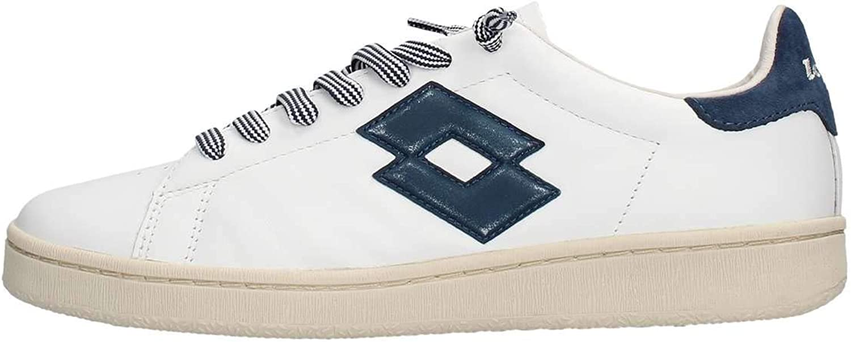 Lotto Leggenda Autograph vit and blå läder skor, Storlek UK UK UK   bekväm