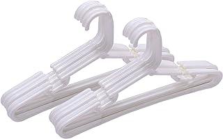 Kuber Industries Plastic 12 Pcs Baby Hanger Set for Wardrobe (White) -CTLTC10579