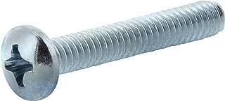Hillman 92174 Zinc Pan Head Phillips Machine Screw, 10-24 x 2-1/2