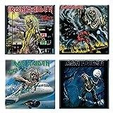 Iron Maiden 4 x Kühlschrankmagnet Albums flight 666