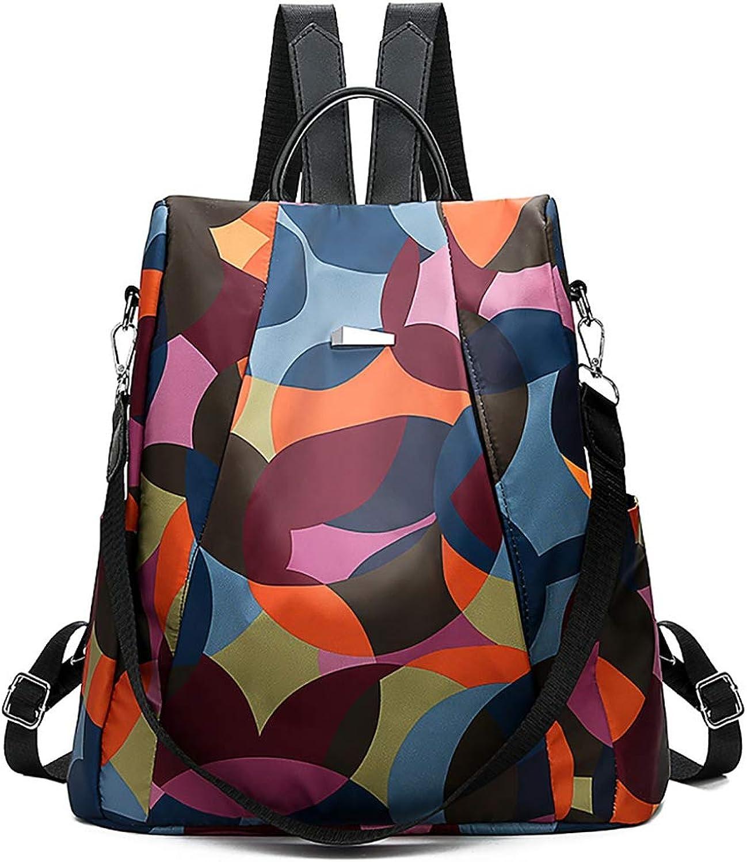 ASHIJIN Fashion Women Simple Trend Student Oxford Bag Woman Soft Zipper Wearable Versatile Backpacks Travel Bag