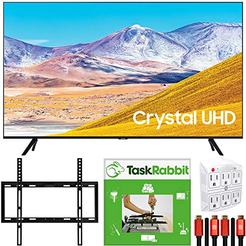 Best Buy! SAMSUNG 55-inch UN55TU8000 4K Ultra HD Smart LED TV (2020 Model) Crystal Processing 4K Bun...