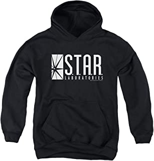 Youth Flash Superhero Star Labs Kids Youth Pullover Hoodie & Stickers