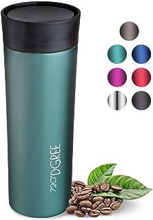 Senza BPA UMOI Vakuum Travel Mug Tazza di Viaggio per Andare t/è e caff/è Doppio con t/è colino e Coperchio di bamb/ù 400ml amapodo