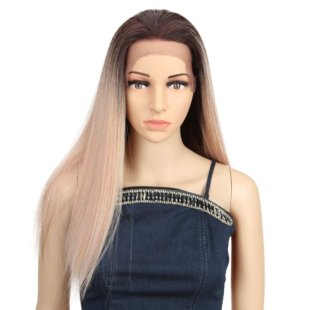 QVR 13×4 Lace Front Wigs for Synthetic 130% safety Import white Hair Den Women