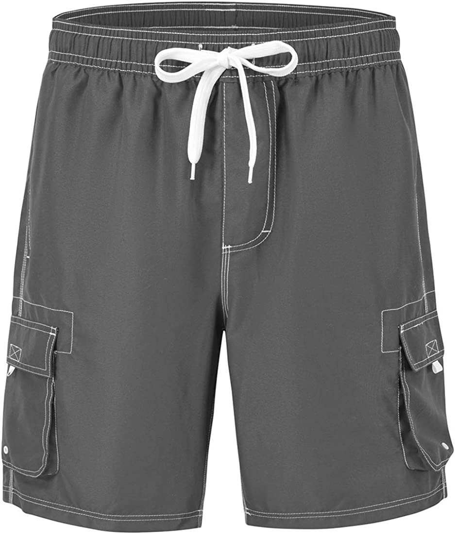 Gopune Men's Board Shorts Quick Dry Sportwear with Mesh Lining