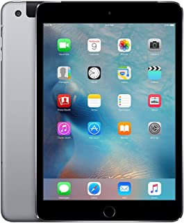 Apple iPad Mini 4, 128GB, Space Gray - WiFi + Cellular (Renewed)