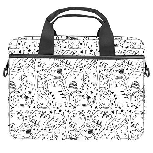 Computer Bag Suitable for MAC Computers Men and Women Handbags: 13.4 inch-14.5 inch Lightweight 15 Inch Laptop Bag Business Messenger Simple Cats