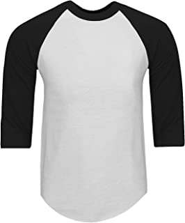 e1f64085 Shaka Wear Mens Baseball T Shirts Raglan 3/4 Sleeves Tee Cotton Jersey S-