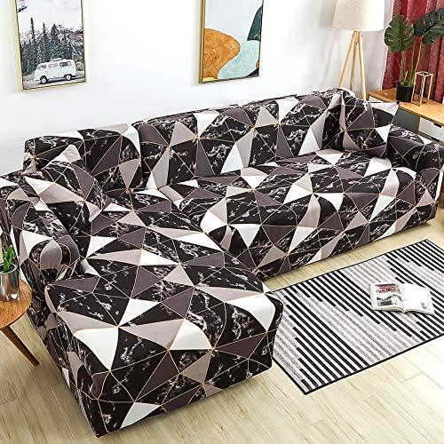 ASCV Fundas de sofá de Esquina para Sala de Estar Fundas elásticas para sofá Funda de sofá elástica Toalla en Forma de L Chaise Longue A2 4 plazas