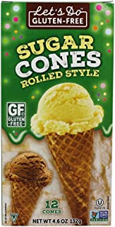 Let's Do - Gluten-Free Sugar Cones Rolled Style - 4.6 oz.