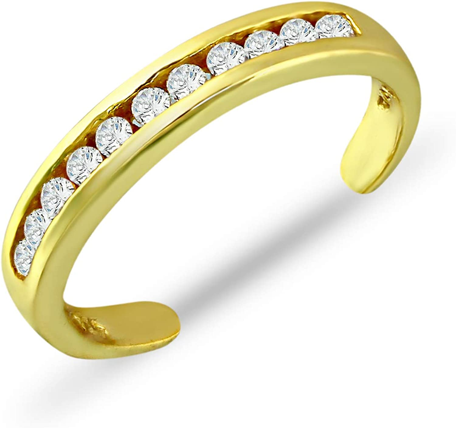 Sea of Ice Sterling Surprise price Silver CZ Zirconia Max 54% OFF Adjusta Cubic Set Channel