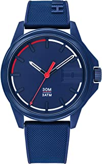 Tommy Hilfiger Men'S Blue Dial Blue Silicone Watch - 1791625