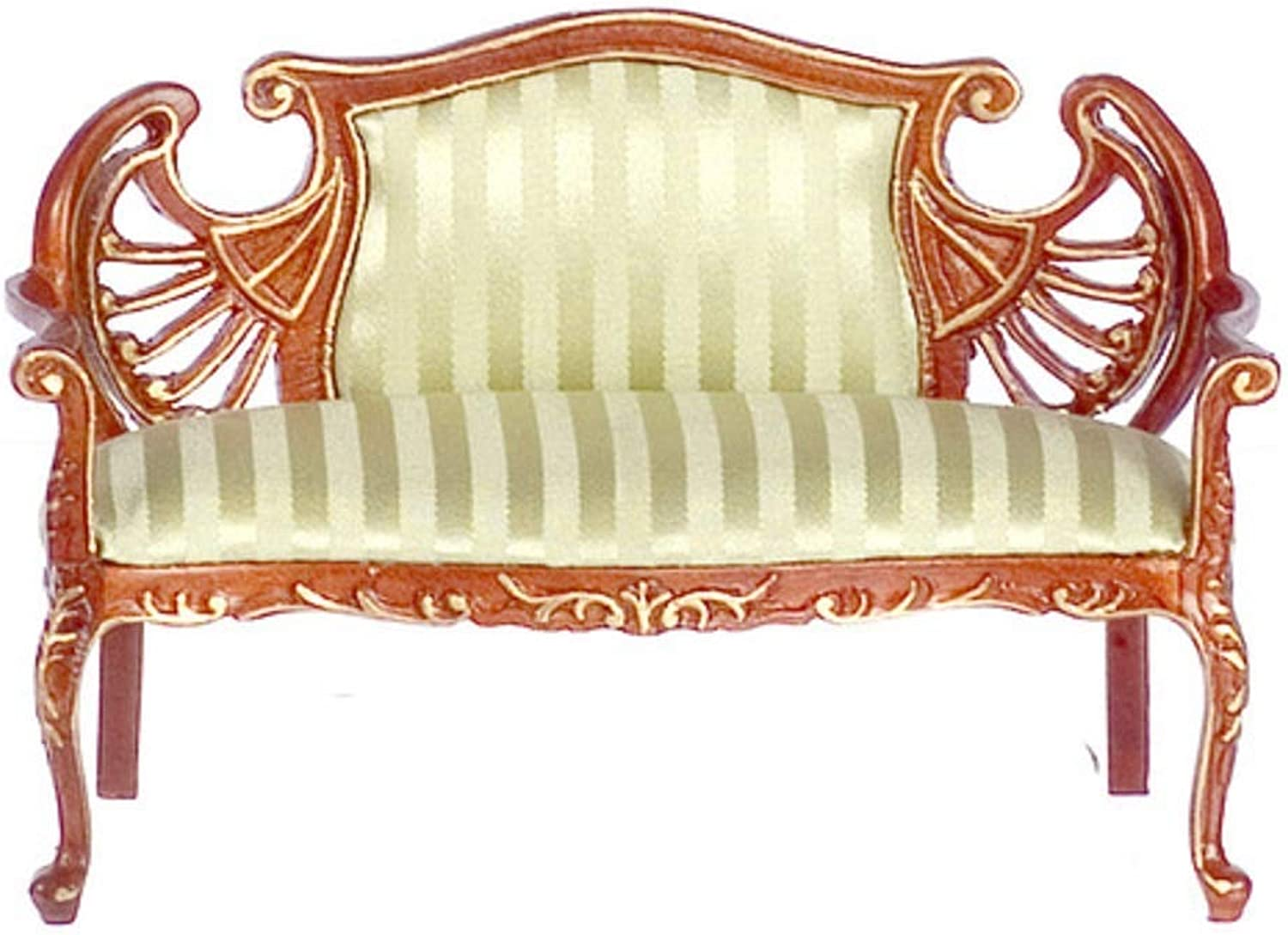 Melody Jane Dolls House Fine Miniature Living Room Lounge Furniture Ornate Palermo Sofa
