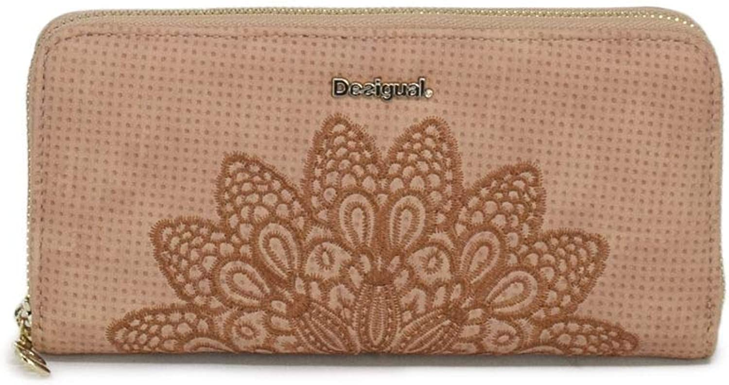 Desigual Women's 19SAYP56PINK Pink Faux Leather Wallet