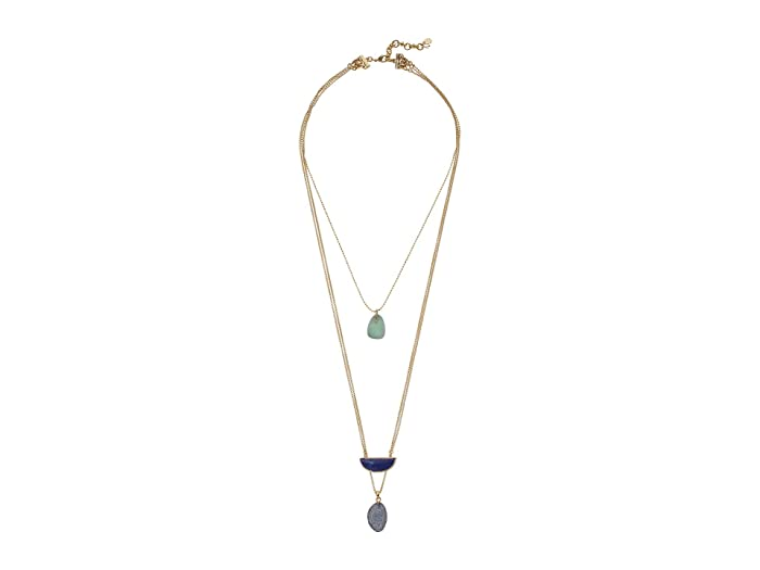 Lucky Brand  Set Stone Lucky Layer Necklace (Gold) Necklace