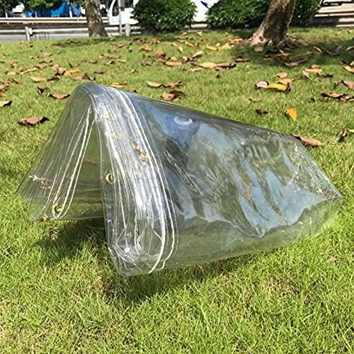 MDCG Trasparente Telone Balcone Terrazza Parabrezza Coprendo La Pioggia Fiori Isolamento Chiaro Teloni (Color : Clear/0.3mm Thick, Size : 1.1x2m)