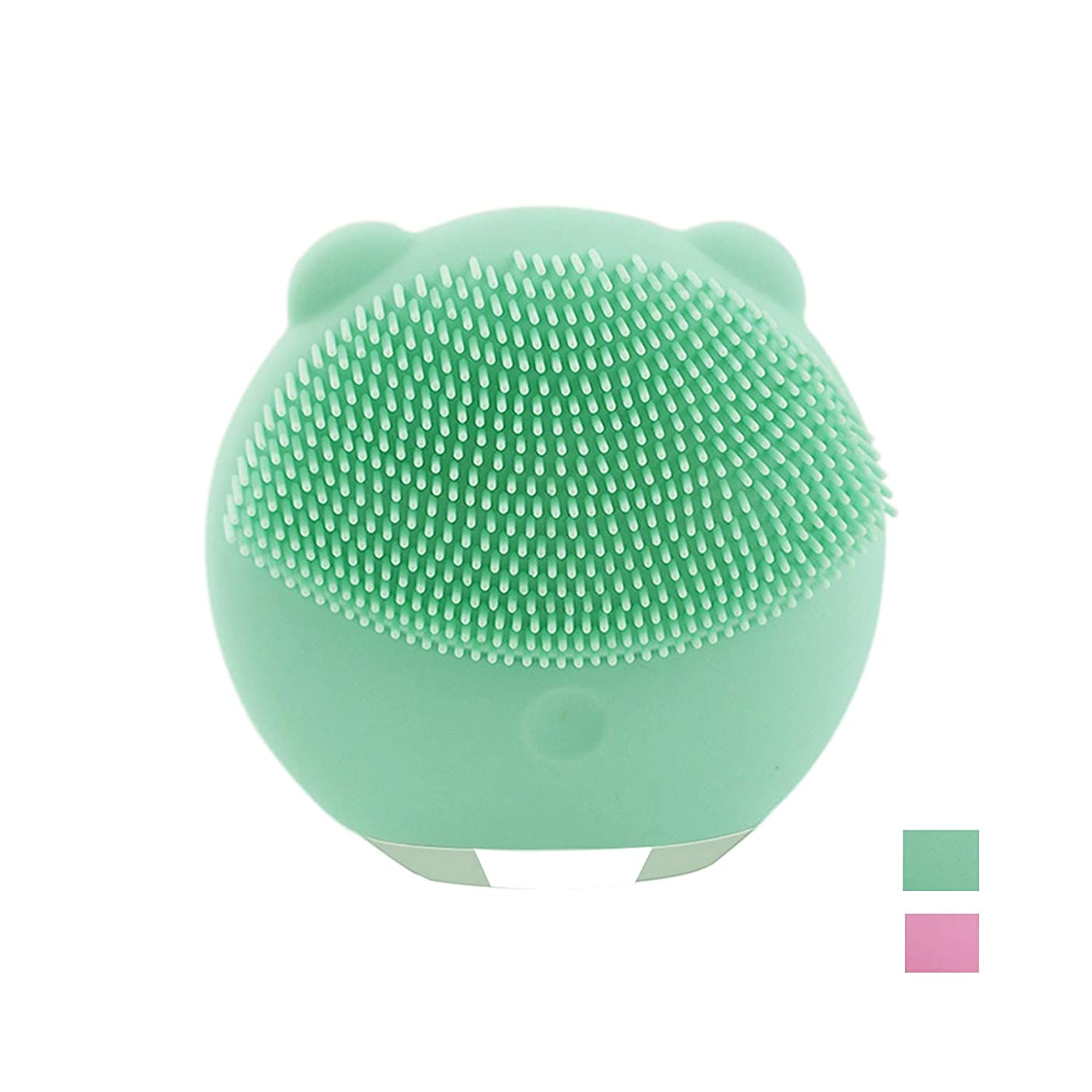 カッターボート広範囲に電動 洗顔ブラシ 音波洗顔 ボデイーブラシ 毛穴ケア 美顔器 クレンジング フェイスブラシ USB充電 防水式 洗顔器 3種の振動モード (ライトグリーン)