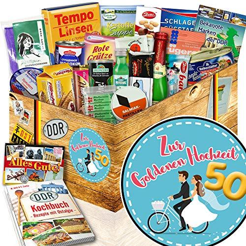 Zur Goldenen Hochzeit - Geschenke für den Partner - Spezialitäten DDR Box