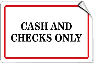 cash or check only sign