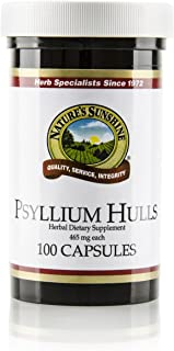 Nature's Sunshine Psyllium Hull, 100 Capsules | Organic Intestinal System Support is High in Soluble Fiber Which Facilitates The Process of Waste Elimination